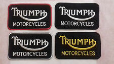 Triumph Motorcycles Badge embroidered iron on sew on patch Bikers Clothes Jeans
