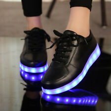 Glowing Sneakers USB Charged Light Up Fancy LED Slippers Casual Luminous Boots