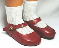 boneka puppenschuhe Mary janes MISURA 95N Red/Red Mary Jane Shoes dimensioni 95N