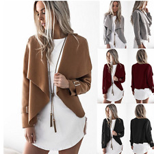 UK Womens Trench Slim Winter Warm Coat Short Wool Jacket Outwear Parka