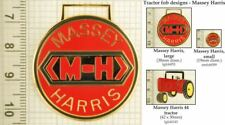 Massey tractor decorative fobs, various designs & keychain options