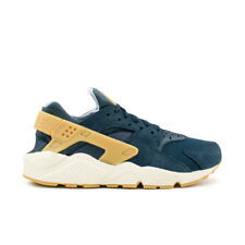 NIKE AIR HUARACHE RUN SE SNEAKERS BLUE BIANCO BEIGE 852628 401