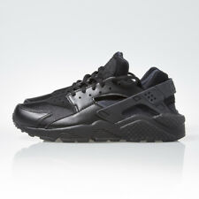 Nike Air Huarache Run Triple Black Womens Running Shoes Sneakers 634835 012 New