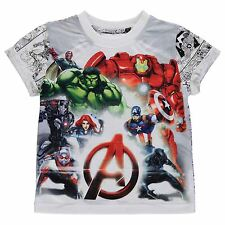 KIDS BOYS JUNIORS CHILDRENS MARVEL AVENGERS IRONMAN THOR TOP T-SHIRT TEE SHIRT