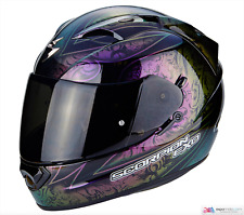 Casco SCORPION EXO-1200 Air Fantasy Negro Camaleón