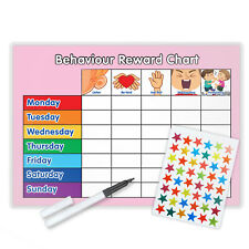 BEHAVIOUR REWARD TRAINING REWARD CHART WITH PEN & STAR STICKERS - P