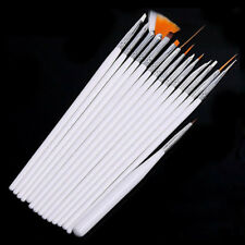 15pcs Nail Art  Brush Dotting Painting Pen DIY Tools Set Fine Details Tips New