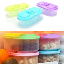 Plastic Kitchen Container Fresh Fruit Food Snack Storage Sauce Box Food Case GD