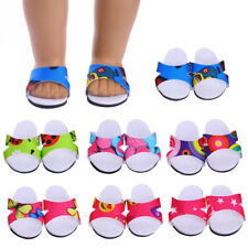 """Dolls Shoes for 18"""" American Girl Our Generation Dolls Slipper Sandals Summer"""