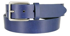 "Tommy Hilfiger Mens Patch Work End Navy Casual Belt, 1-3/8"" Wide"