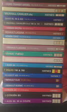 Various Haynes Owners Workshop Car Manuals Services 1949 to 2010 REG A-Z Petrol