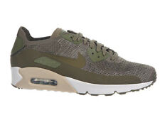 NEW MENS NIKE AIR MAX 90 ULTRA 2.0 FLYKNIT RUNNING SHOES TRAINERS MEDIUM OLIVE