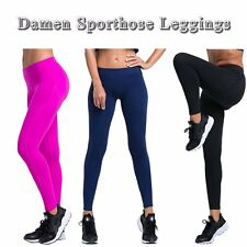Damen Sporthose Leggings Trainingshose Tights Laufhose Fitnesshose Gym Gr.S-XL