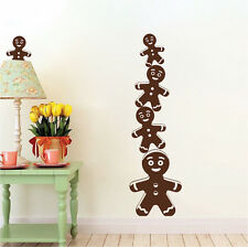 Ginger Bread Men Wall Decals Christmas Window Stickers Christmas Decoration, h68