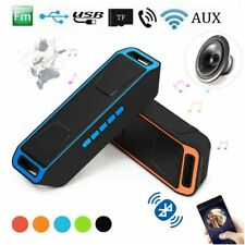 USB WIRELESS BLUETOOTH PORTABLE SPEAKER 4.0 SOUND STEREO SUBWOOFER SUPPORT FM TF