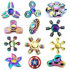 EDC Fidget Metal Hand Spinner Rainbow Focus ADHD Autism Finger Toy Gyro New Gift