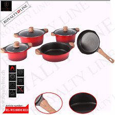 ROYALTY LINE 18PCS DIE CAST NON-STICK MARBLE COATED PAN SET