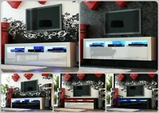 NEW 2018! Superb TV Stand Unit Cabinet 160cm + Floating / Standing + Gloss + LED