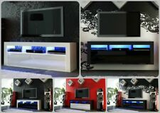 NEW 2018! Superb TV Stand Unit Cabinet 130cm + Floating / Standing + Gloss + LED