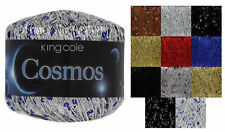 Cosmos Glitter Knitting Yarn King Cole 25g Ball Metallic Sequin Thread 1 3 6 12