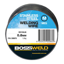 Bossweld STAINLESS STEEL 316LSI MIG WELDING WIRE 1.0kg*AUS Brand- 0.8mm Or 0.9mm