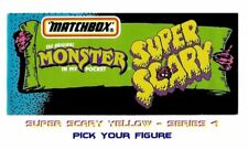 Monster in my Pocket - Series 4 Super Scary - Mini Figure MIMP Matchbox Yellow