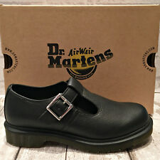Ladies Dr. Martens Black Leather Single Buckle Mary Jane Polley Virginia Shoe