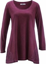 Damen Cold-dyed-Shirt-Tunika, 229777 in Beere Used