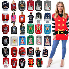 Mens Womens Unisex Knitted Christmas Jumper Sweater Xmas Novelty Party Cardigan