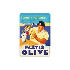 PLAQUE METAL ALCOOL - 2 FORMATS DISPONIBLES - Pastis Olive Marseille