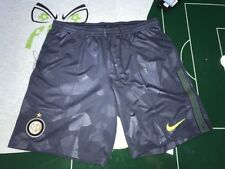 CALCIO FOOTBALL PANTALONCINI SHORTS NIKE 2017/2018 AWAY INTER 3RD GRIGIO BREATHE