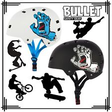 Bullet X Santa Cruz Pro Protection Skateboard Helmet Screaming Hand Roller Skate