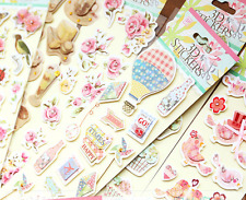 3D Paper Stickers Rose Flower Cupcake Birds Butterfly Scrapbooking Embellishment