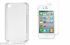 TOTU Transperent Back Case Cover For Apple iphone 4/5/6/6+ WITH Tempered glass