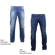 Diesel Jeans Buster (Wash 0831D) and Akee (Wash 0675L) Regular Slim Fit Tapered