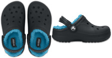 Crocs Kids Classic Fuzz Lined Clog. Classic Clog With Comfy, Warm Liner. Navy