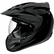 ICON VARIANT Pulido Negro Brillante Moto Enduro Adventure Casco