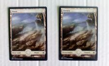 MTG: TIERRAS BASICAS FULL ART MAGIC BASIC LANDS TEXTLESS BATTLE FOR ZENDIKAR