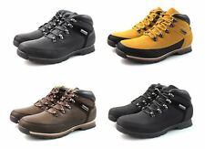 Mens Black Brown Tan Hiking Boots Faux Leather Suede Outdoor Hiking All Sizes