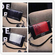 NEW Quilted Plaid Women Messenger Bag Chains Cross body handbag shoulder Bags