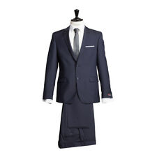 ATELIER TORINO Business Completo giacca e pantaloni blu navy classic fit misto