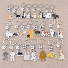 1pc Creative Cute Lovely Animal Pet Dogs Charm Car Key Chain Keying Gift Decor