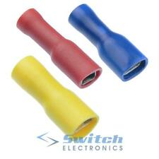 Insulated Female Crimp Spade Connectors Terminals - Red Blue Yellow
