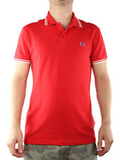 FRED PERRY POLO STRETCH & SLIM FIT ROSSO FUOCO 30162009 Polo manica corta Uomo