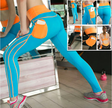 Womens Quick-dry Workout Leggings Running Yoga Exercise Pants Ladys Sport Tights