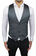 CHALECO CHALECO HOMBRE ALESSANDRO GILLES FIN ELEGANTE GRIS 100% MADE IN ITALY