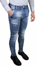 VAQUEROS DENIM HOMBRE DIAMANTE MAT CLARO AZUL SLIM FIT AJUSTADO STRETCH PITILLO