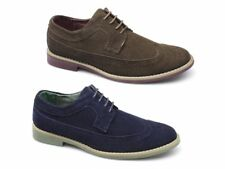 RRP £65 - FRONT FADDEN 2 Mens Suede Leather Lace Up Brogue Padded Shoes Sz10 -11