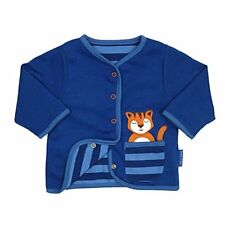 Toby Tiger Baby Boys Reversible Tiger cardigan 100% Organic Cotton.0-3 Years!