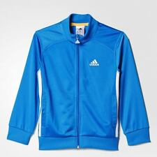 adidas boys blue zip up track top. Warm up jacket. Age 9-10 years